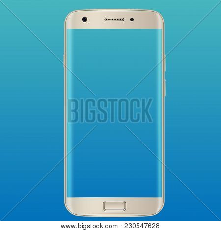 Modern Smartphones With A Transparent Screen. Modern White Touchscreen Cellphone Tablet Smartphone I