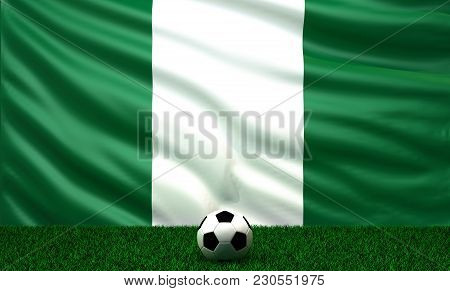 Soccer Ball With The Flag Of Nigeria