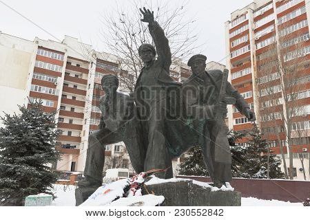 Evpatoria, Crimea, Russia - February 28, 2018: Monument