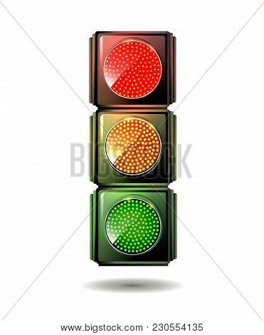 Traffic Light Isolated. Vector. Green Light Vector