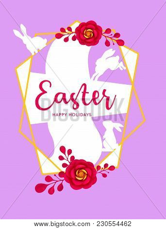 Summer And Spring Background With Paper Art Flower. Vector Vivid Floral Decoration Element, Banner,