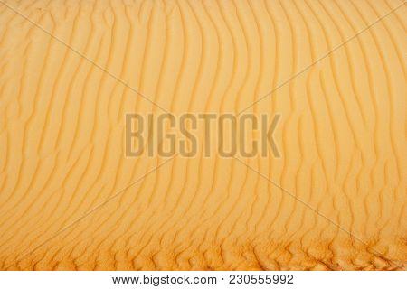 Abstract Sand Patterns In The Dunes Of The Rub Al Khali Or Empty Quarter. Straddling Oman, Saudi Ara