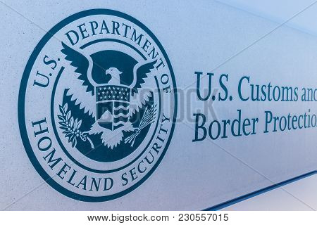 Indianapolis - Circa March 2018: Customs And Border Protection Revenue Division. Cbp Is A Federal La