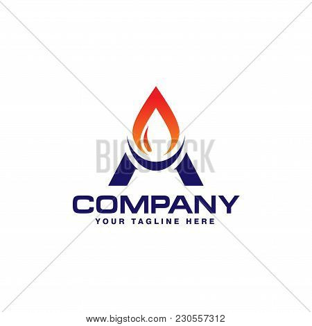 Letter A Energy Oil And Gas Logo Company