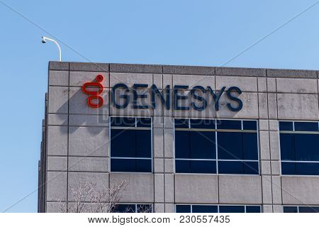 Indianapolis - Circa March 2018: Genesys Midwest Campus, Genesys Provides Customer Engagement Softwa