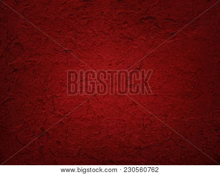 Cracked Flaking Red Paint, Red Background Texture
