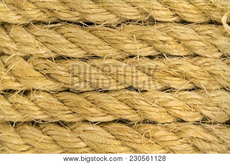 Plane Of Several Layers Of Thick Rope As Background
