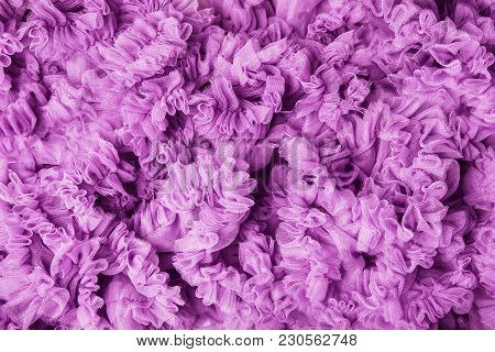 Cloth Waves Background, Pink Fabric Waves, Frill Flounce Lilac Wave Texture