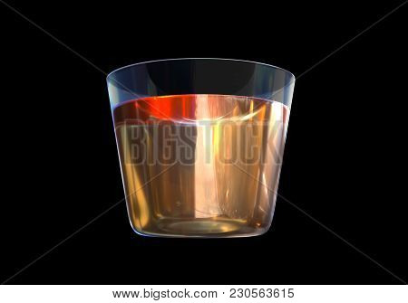 A Glass Of Whisky On Black Background