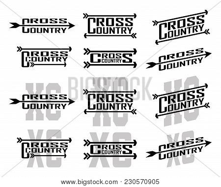Cross Country Designs Is An Illustration Of Twelve Designs For Cross Country Runners In Schools, Clu