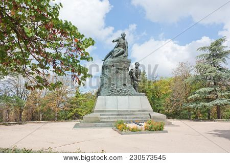Sevastopol, Crimea, Russia- August 13, 2012: Monument To The Hero Of The Crimean War Of 1853-1856 Ad