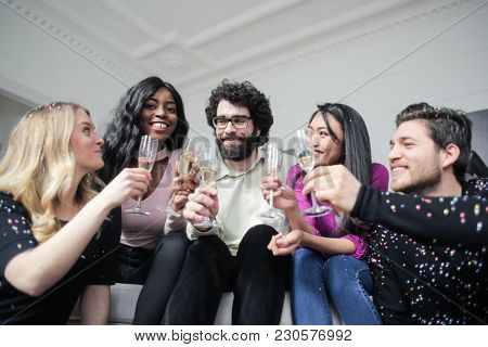 Toast with friends