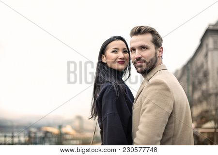 Tender couple of young lovers