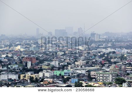 Pollution Sky Manila City Philippines