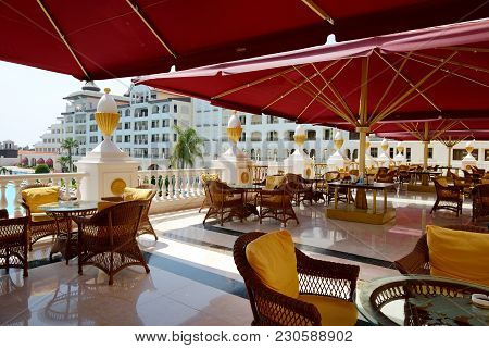 Antalya, Turkey - April 23: The Mardan Palace Luxury Hotel Is Considered Europe's Most Expensive Lux