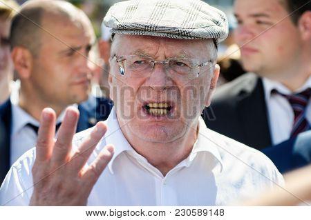 Orel, Russia - August 05, 2016: Orel City Day. Vladimir Zhirinovsky Talking Emotionally With Hands