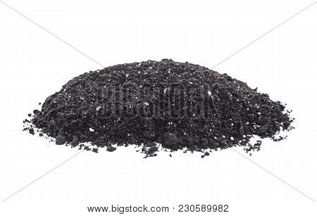 Heap Of Fertile Earth Isolated On White Background.