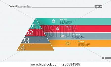 Pyramid Chart Slide Template. Business Data. Graph, Diagram, Design. Creative Concept For Infographi