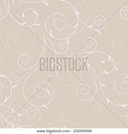 Seamless floral swirl pattern