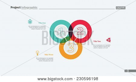 Triple Intersect Graph Slide Template. Business Data. Chart, Diagram. Creative Concept For Infograph