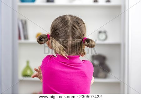 Portrait Of Sad Child. Concept Problems Of Education Of Children