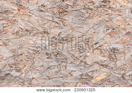 Closeup Of Recycled Compressed Plywood Board Texture Background