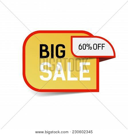 Big Sale Sixty Percent Off Lettering. Sale Design Element. Typed Text, Calligraphy. For Posters, Ban
