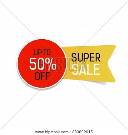 Super Sale Up To Fifty Percent Off Lettering. Sale Design Element. Typed Text, Calligraphy. For Post