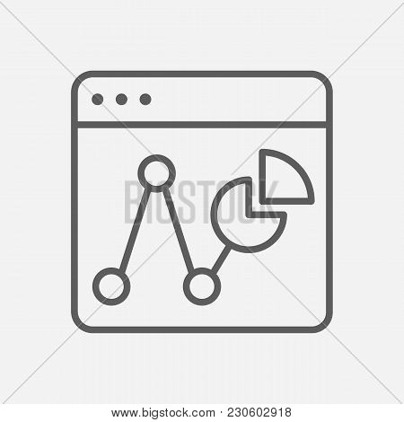Statistic Icon Line Symbol. Isolated Vector Illustration Of  Icon Sign Concept For Your Web Site Mob