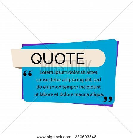 Quote Lettering And Text. Quote Design Element. Typed Text, Calligraphy. For Posters, Banners, Leafl