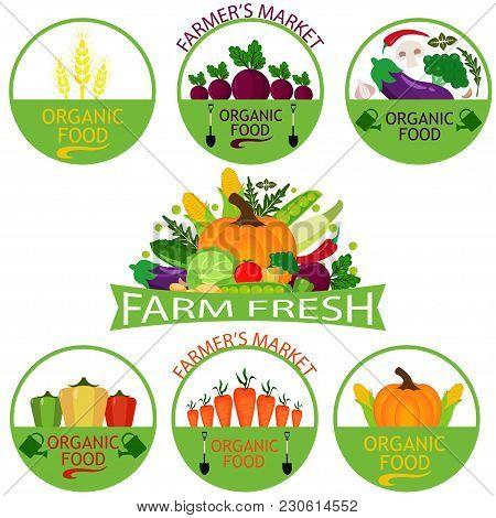 Set Vegetables Logo Vector & Photo (Free Trial) | Bigstock