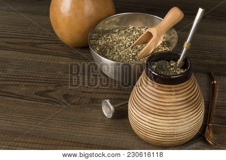 Traditional Yerba Mate. Yerba Mate Concept Photo