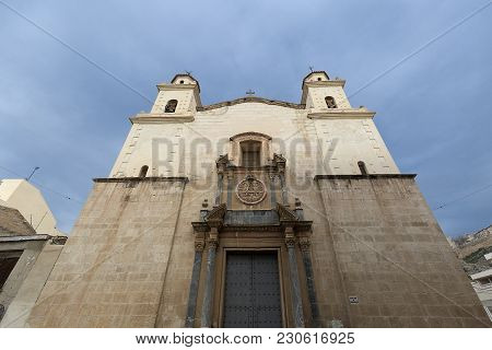 Facade Of The Sanctuary Of Our Lady Of Monserrate In The City Of Orihuela, Province Of Alicante, Spa