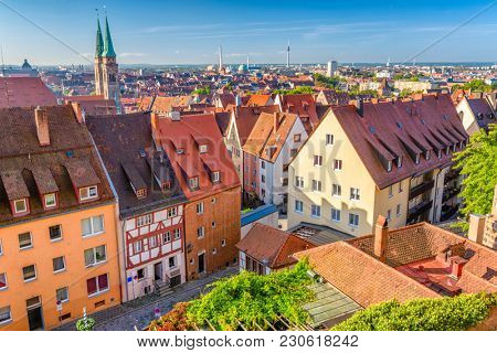 Nuremberg, Germany old town skyline.