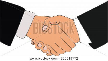 Handshake For Good Job, Two  Businessman, For Good Finances