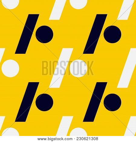 Slash Dot Seamless Pattern. Strict Line Geometric Pattern For Your Design.