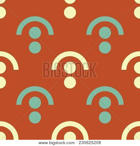 Lock Under Seamless Pattern. Strict Line Geometric Pattern For Your Design.