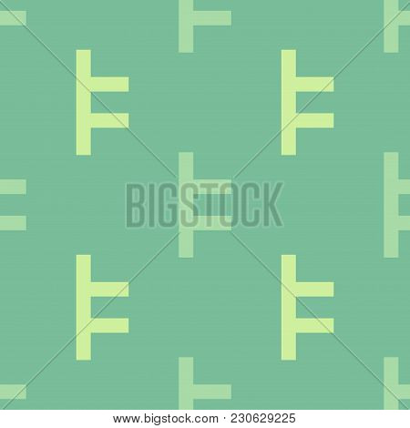 Lock Fasten Seamless Pattern. Strict Line Geometric Pattern For Your Design.