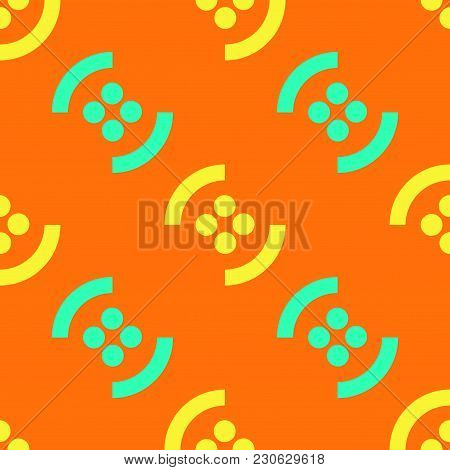 Graphic Fruit Seamless Pattern. Strict Line Geometric Pattern For Your Design.