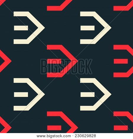 Flow Right Seamless Pattern. Strict Line Geometric Pattern For Your Design.