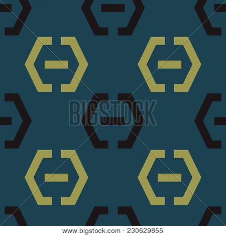 Locker Fixed Seamless Pattern. Strict Line Geometric Pattern For Your Design.