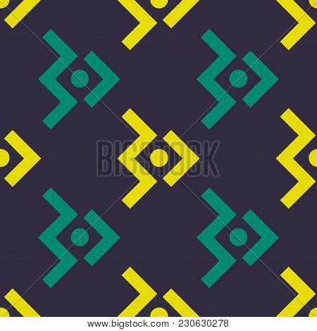 Space Aircraft Seamless Pattern. Strict Line Geometric Pattern For Your Design.