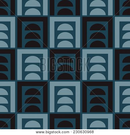 Visual Distortion Illusion Seamless Pattern. Strict Line Geometric Pattern For Your Design.