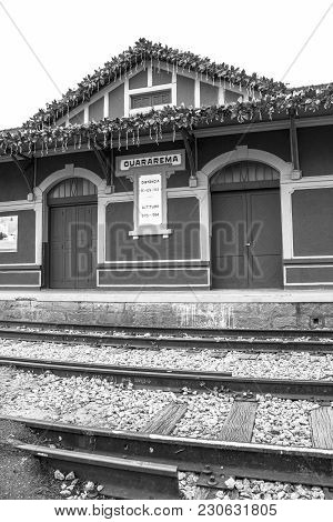 Guararema, Sp, Brazil, December 20, 2017. Guararema Railway Station, Inaugurated In 1927, Typical Of