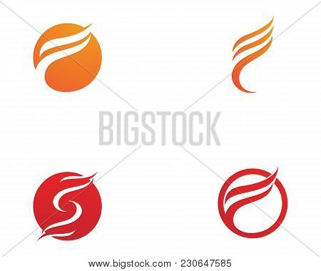 Fire Flame Nature Logo And Symbols Icons Template..