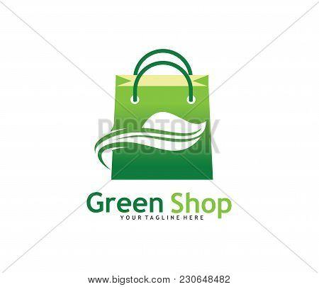 Green Bag Online Shop Vector Logo Design