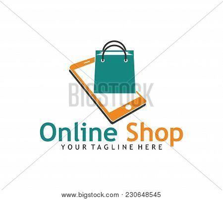 Online Shop Application Icon Shopping Bag Vector Logo Design