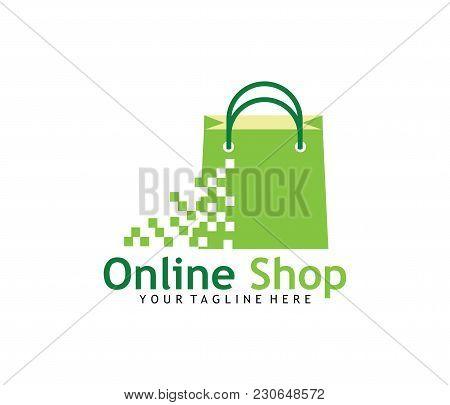 Online Shop Vector Logo Design