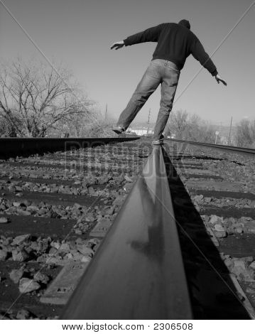 Balancing On The Railroad