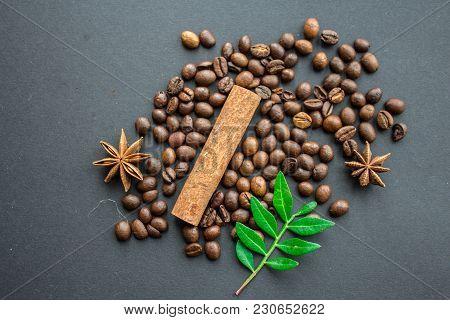 Coffee Beans Stick Cinnamon And Onyx Star